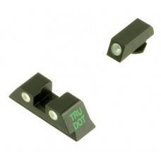 Meprolight 10224Y Tru-Dot Glock 9/40 Green/Yellow Composite Green Tritium w/White Outline Polymer/Aluminum Blk