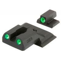 Meprolight 11770 Tru-Dot Tritium Sights S&W M&P Shield Tritium Green Tritium Green Black