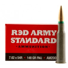 Red Army Standard AM2000 Copper-Jacketed FMJ 7.62X54R 148 GR 20Box/36Case