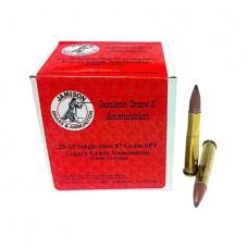 Jamison 2520SS-87LEG Legacy Grade 25-20 Single Shot 87 GR Spitzer 20 Bx/ 10 Cs
