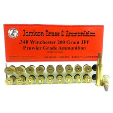 Jamison 348WIN200PRL Prowler Grade 348 Winchester 200 GR Jacketed Flat Point 20 Bx/ 10 Cs