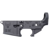 Spikes STLS015 Stripped Lower Punisher AR-15 Multi-Caliber Black