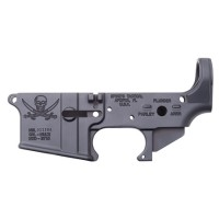 Spikes STLS016 Stripped Lower Pirate AR-15 Multi-Caliber Black