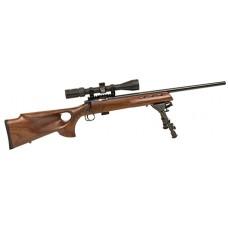"Crickett 20030 722 Varmint Stock Bolt 22 Long Rifle 16.1"" 1 Wood Stk Black. Includes Scope and Bipod."