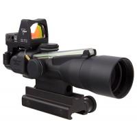 Trijicon 400117 ACOG with RMR 3x 30mm Obj 19.3 ft @ 100 yds FOV  Tube Dia Black Horseshoe Dot