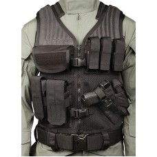 Blackhawk Omega Safety Vest Crossdraw Tactical Black Adjustable Heavy Duty Nylon