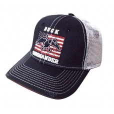 Duck Commander DHNWF Flag Navy/White Hat Mesh One Size Cotton/Poly