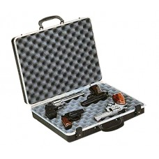 Plano 10404 Gun Guard DLX Four Pistol Case Alligator Textured Polymer Black