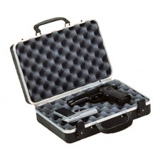 Plano 10402 Gun Guard DLX Two Pistol Case Alligator Textured Polymer Black