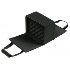 Bulldog BD522 Double-Sided Pistol Case Hard Comp w/Padded Nylon Shell Black