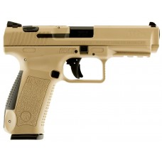 "Century HG3759DN TP9SA DAO 9mm 4.4"" 10+1 Desert Tan Interchangeable Backstrap Grip"