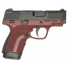 """Honor Defense HG9SCMAH Honor Guard Sub-Compact Double 9mm Luger 3.2"""" 7+1/8+1 Mahogany Interchangeable Backstrap Grip Black Stainless Steel"""