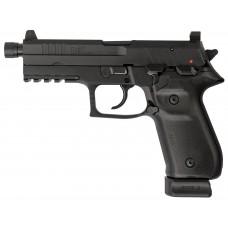 "Arex REXZERO1T-01 Rex Zero Tactical Single/Double 9mm Luger 4.9"" TB 20+1 Black Polymer Grip Black"