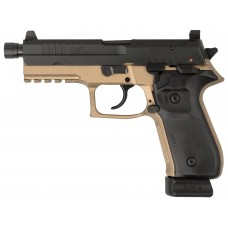 "Arex REXZERO1T-03 Rex Zero Tactical Single/Double 9mm Luger 4.9"" TB 20+1 Black Polymer Grip FDE Hardcoat Anodized Frame Black"
