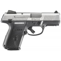 """Ruger 3316 KSR9C10L Cmpt DAO 9mm 3.4"""" 10+1 Blk Poly Grip Brushed Stainless"""