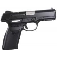 """Ruger 3321 SR9B Std DAO 9mm 4.1"""" 17+1 Blk Poly Grip/Frame Blk Nitride Slide"""