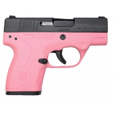 "Beretta JMN9S65 BU9 Nano DAO 9mm 3.07"" 6+1/8+1 Pink Poly Frame/Grip Blk"