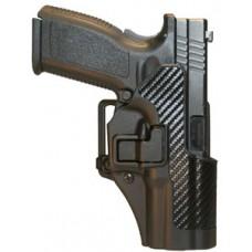 Blackhawk 410500BKR Serpa CQC Concealment RH Matte Finish 0 Glock 17/22/31 Polymer Black