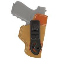 Desantis Gunhide 106NAD6Z0 Sof-Tuck RH Glock 43 Saddle Leather/Suede Tan