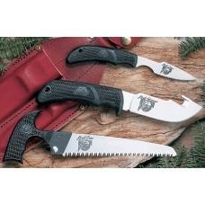 Outdoor Edge KP1C KODI PAK Fixed Set AUS-8 Caper/Skinner w/ Gut Hook/Saw Blade K