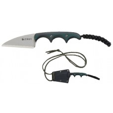 Columbia River 2385 Folts Fixed 5Cr15MoV Wharncliffe Blade Green/ Black