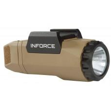 Inforce A-06-1 APL Gen3 White 400 Lumens LED CR123A Lithium (1) Polymer Flat Dark Earth