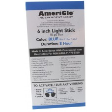 "AmeriGlo 608HB10B 6"" 8 Hour Blue Waterproof Light Stick/10 Pack"