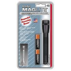 Maglite M2A016 Mini Maglite Incandescent Flashlight 2AA Black