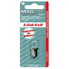 Maglite LMXA301 Maglite Replacement Lamp D Cell 22,000 Candlepower Clear