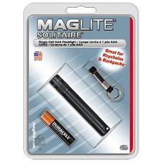 "Maglite K3A016 Solitaire Incandescent Flashlight 3x.5""1AAA Black"