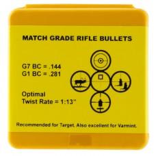 Berger Bullets 24408 Target 6mm .243 65 GR Target Boat Tail 100 Box