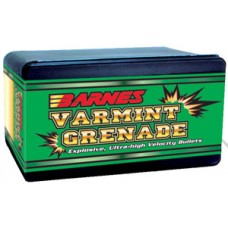 Barnes Bullets 30090 Varmint Grenade 20 Caliber .204 26 GR Flat Base Hollow Point 100 Box