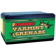 Barnes Bullets 30170 Varmint Grenade 22 Caliber/22 Hornet .224 30 GR Flat Base Hollow Point 100 Box