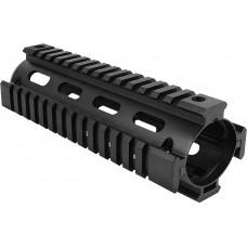 Aim Sports MT021 AR-15 Quad Rail Forend 2 Piece Aluminum Black