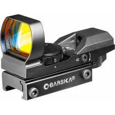 Barska AC10632 Electro Sight 1x 22x33mm Obj Unlimited Eye Relief 3 or 10 MOA Black Matte