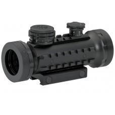 BSA STSRGBD30 Tactical 1x 30mm Obj Unlimited Eye Relief Illum R/G/B Matte Black