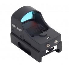 Sightmark SM13001 Mini Shot 1x 23x16mm Obj Unlimited Eye Relief 3 MOA Black Matte