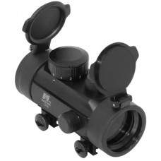 NCStar DBB130 Tube Reflex Optic 1x 30mm Obj Unlimited Eye Relief 3 MOA Red Dot Weaver Mount Black