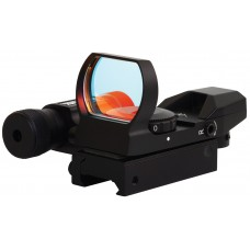 Sightmark SM13002 Dual Shot Reflex Sight/Laser 1x 33x24mm Obj Unlimited Eye Relief 5 MOA Black Matte