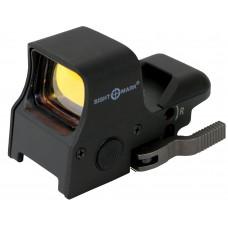 Sightmark SM14000 Ultra Shot 1x 33x24mm Obj Unlimited Eye Relief 3 or 5 MOA Black Matte