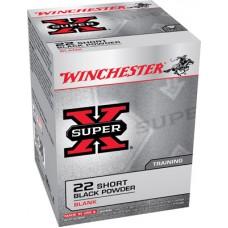 Winchester Ammo X22SB Super-X Black Powder Blank 22 Short  50 Bx/100 Cs