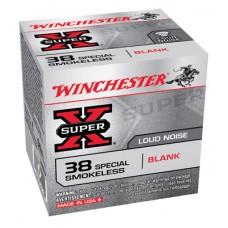 Winchester 38SBLP Super X Smokeless Blank 38 Special 50 Bx/40 Cs