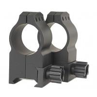 "Warne 603M Rings Tactical Extra High 1"" Diameter Matte Black"