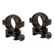 "Barska AI10336 Weaver Ring Set 1"" Dia Low w/Peep Sight Aluminum Black Matte"