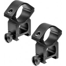 "Barska AI10468 Weaver Ring Set 1"" Dia High w/Peep Sight  Aluminum Black Matte"