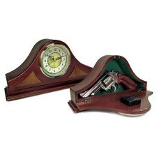 "Peace Keeper MGC Mantle Gun Clock Concealment 14""x7.38""x3.75"" Wood"
