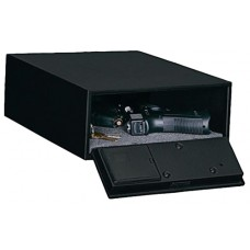 "Stack-On QAS1304 Electronic Lock Quick Access Low Profile Safe  9.875"" W x 13"" D x 4.25"" H Black"