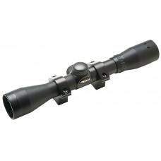"BSA S4X32WR Special Series 4x 32mm Obj 34 ft @ 100 yds FOV 1"" Tube Dia Black Matte Duplex"