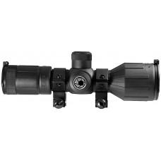 Barska AC11326 Contour 3-9x 40mm Obj 36-13 ft @100 yds FOV 30mm Tube Dia Black Matte Illuminated 4A Blue
