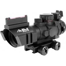 Aim Sports JTDTRQ432G Recon 4x 32mm Obj 36.6 ft @ 100 yds FOV 30mm Tube Black Matte Illuminated Rapid Ranging
